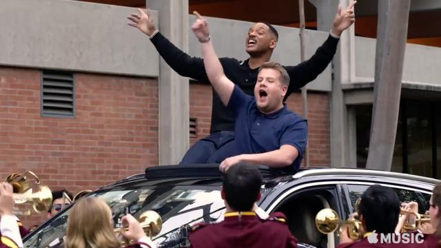 Will Smith en James Corden zingen Gettin' jiggy wit it