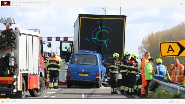 Dode door verkeersongeval op A9
