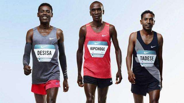 Liveblog: Marathonloper Kipchoge komt net tekort bij recordpoging (gesloten)