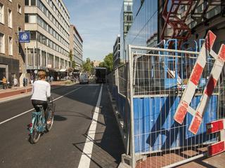 Voetgangers kunnen nog wel gebruikmaken van straat