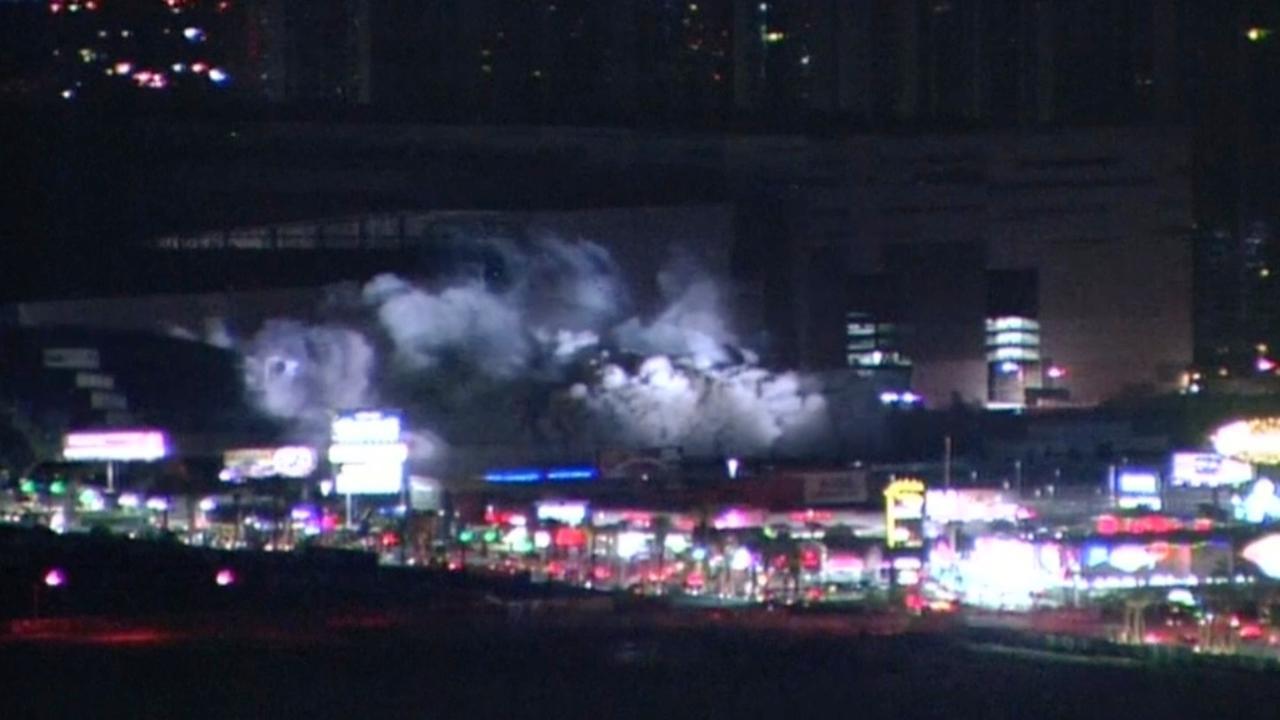 Gecontroleerde implosie hotel Las Vegas