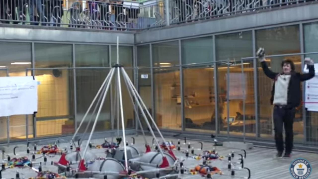Gigantische drone vestigt wereldrecord