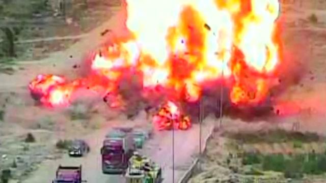 Enorme explosie te zien op vrijgegeven beelden aanslag Egypte