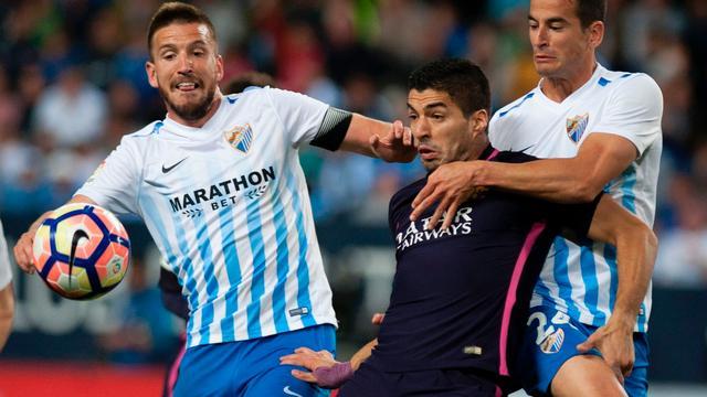 Dure nederlaag Barcelona in Malaga, gelijkspel bij Real-Atletico