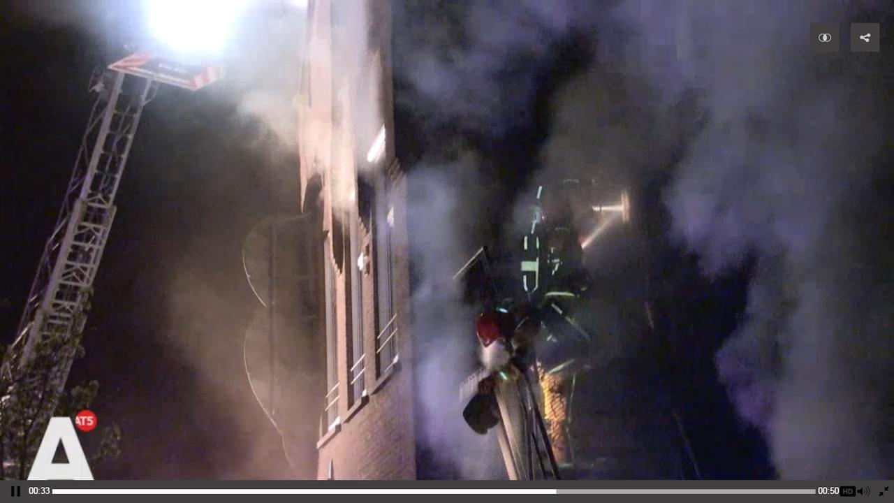 Felle brand bij kinderdagverblijf Entrepothof