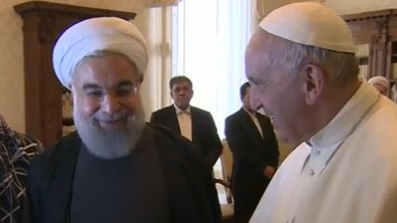 Paus spreekt met Iraanse president