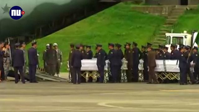 Lichamen slachtoffers vliegramp Colombia op weg naar huis