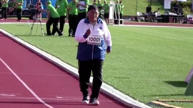 101-jarige Indiase wint 100 meter bij World Masters Games
