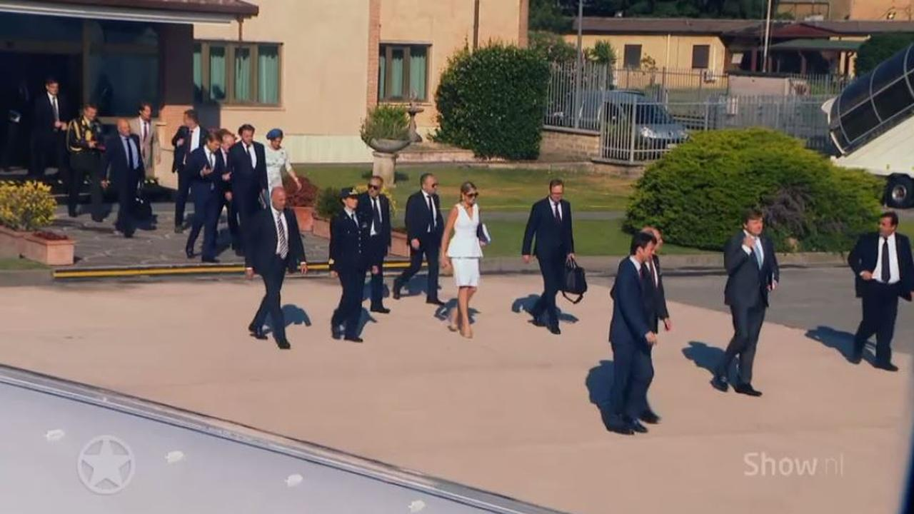 Koningspaar bezoekt Sicilië