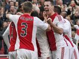 Ajax en PSV zeldzaam dominant
