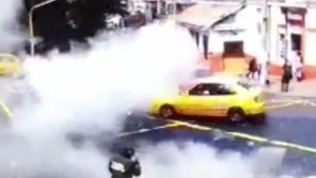 Eerste beelden explosie Colombiaanse hoofdstad Bogota