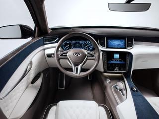 De QX50 Concept geeft een blik op de komende productie-QX50 van Infiniti. Hier zijn de beelden van het interieur.