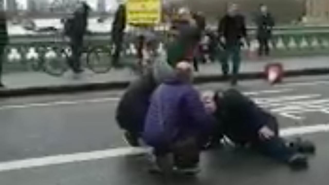 Eerste beelden na aanval Brits parlement