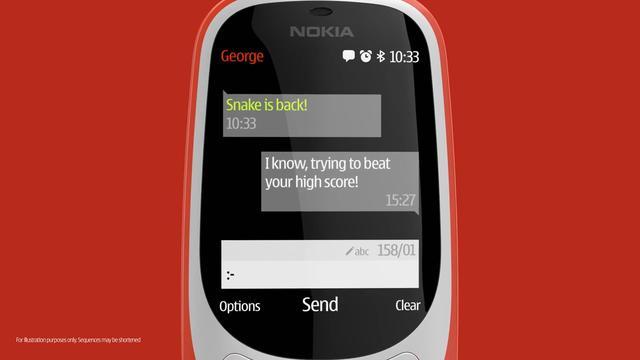 Dit is de nieuwe versie van de Nokia 3310