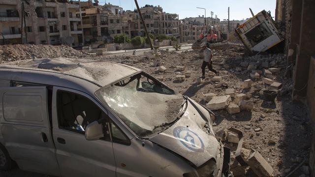 'Syrisch regeringsleger bombardeert ziekenhuizen Aleppo'