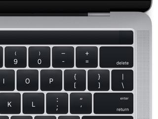 Bovenste rij toetsen door touchscreen vervangen