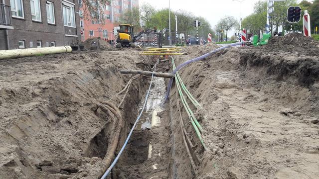 Komende maanden wordt gewerkt aan kabels en leidingen Prins Bernhardlaan