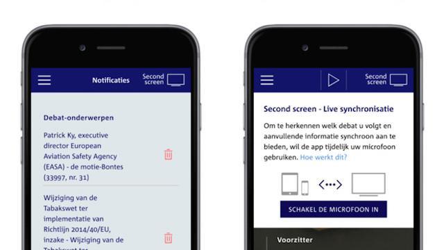 Tweede Kamer brengt livestream-app voor debatten uit