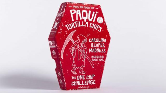 De heetste chips ter wereld worden per stuk verpakt