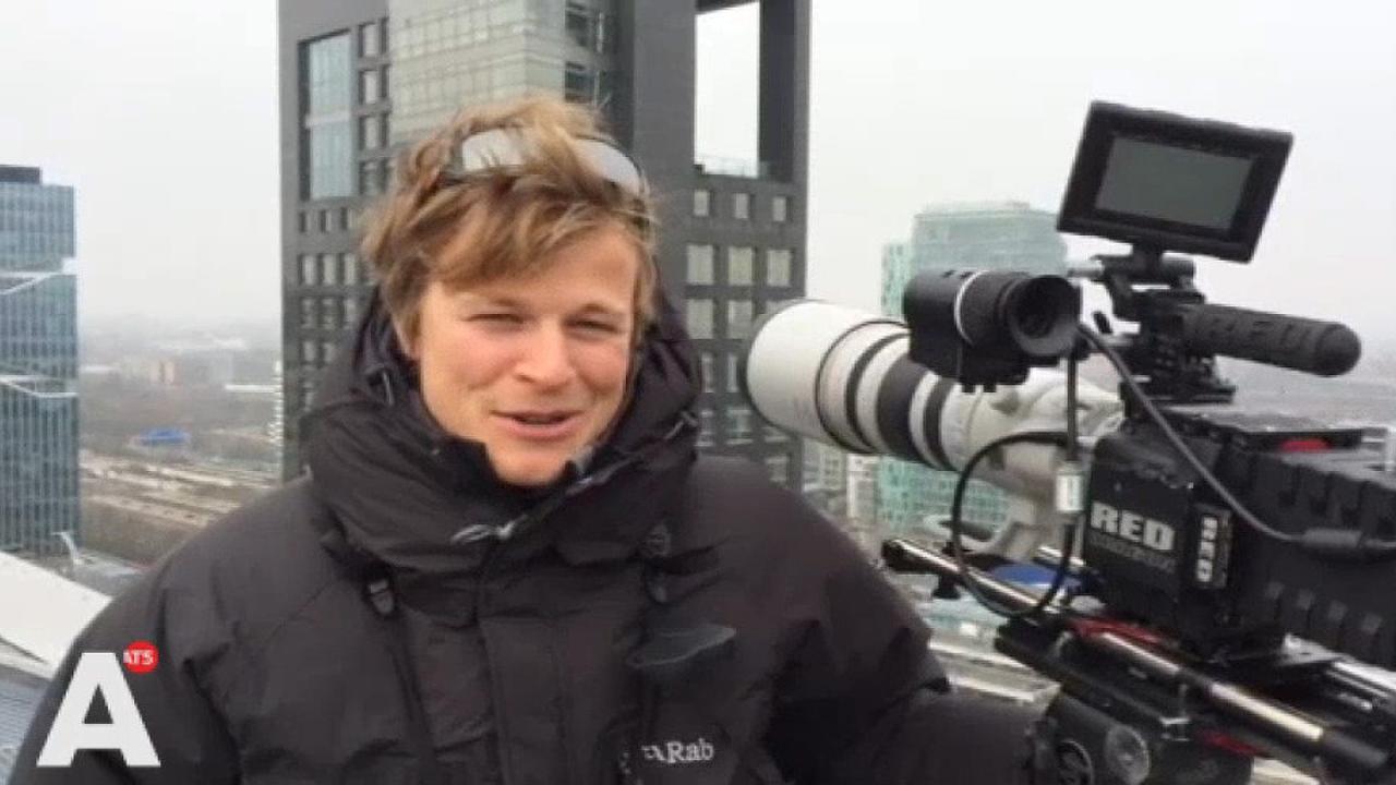 'Sluipschutter' op dak ABN Amro vertelt over z'n werk
