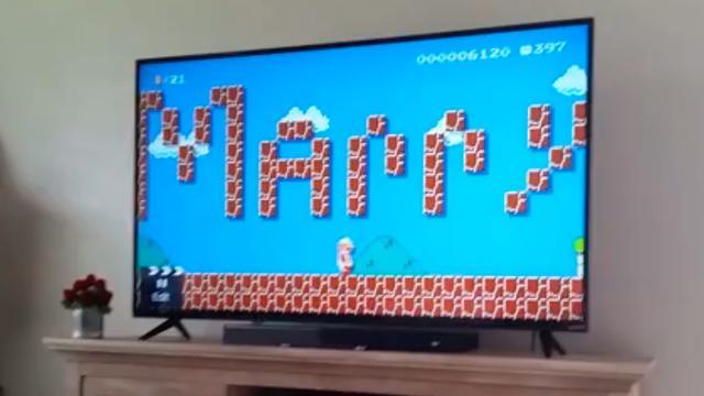 Amerikaanse krijgt huwelijksaanzoek in Super Mario