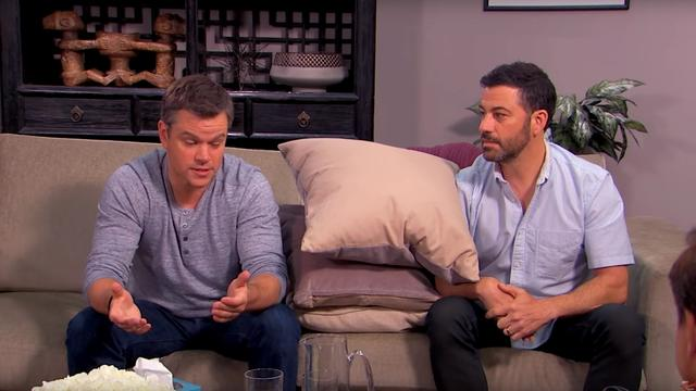 Jimmy Kimmel en Matt Damon 'in therapie'