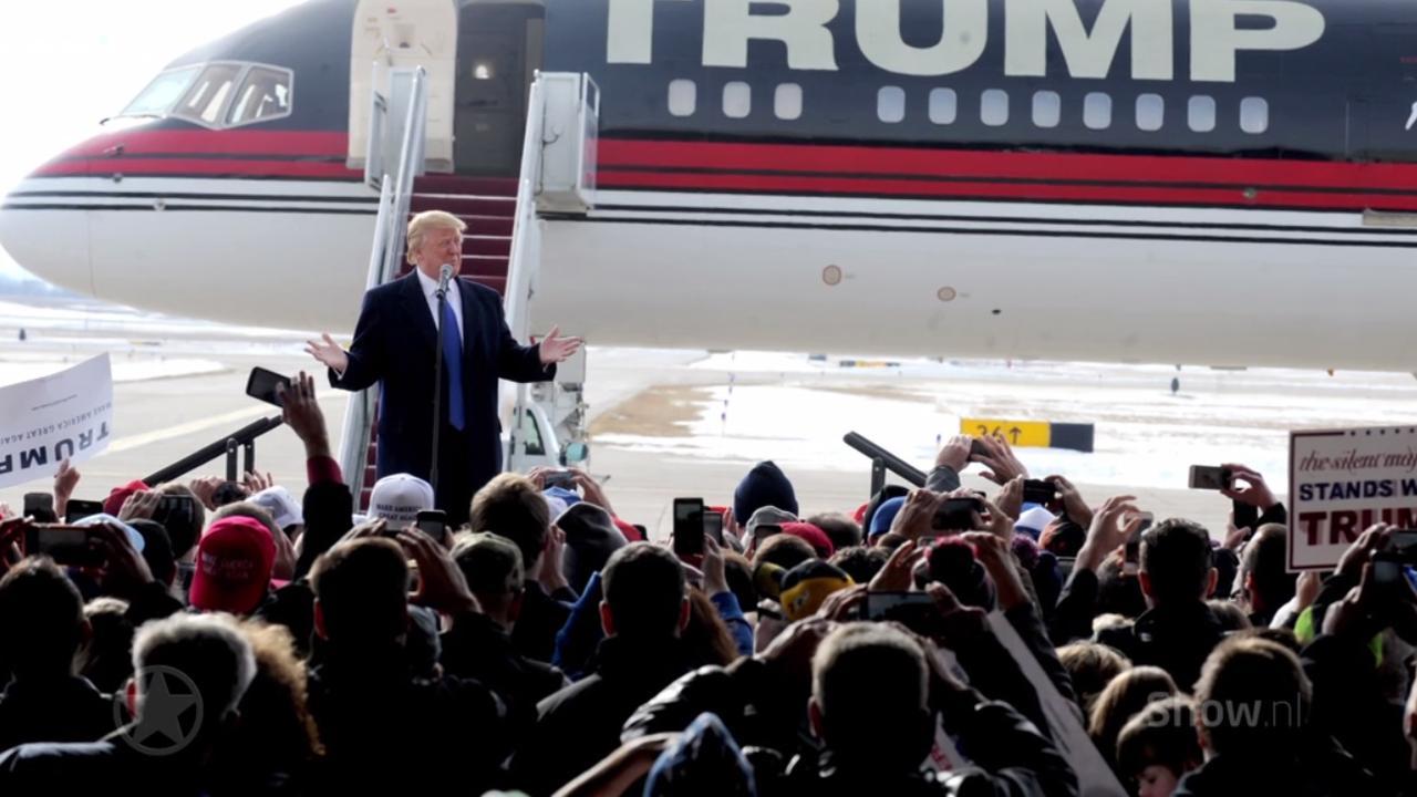 Binnenkijken bij de jet van Donald Trump