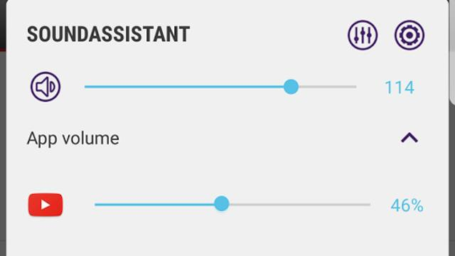 Samsung's SoundAssistant past volume per app aan