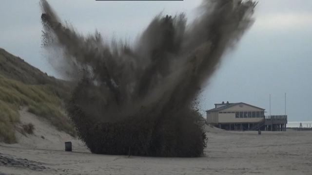 Anti-tankmijn tot ontploffing gebracht in Zeeland