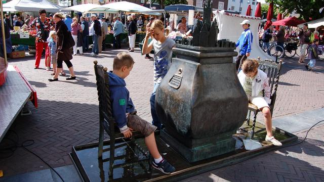 Kunstwerk op Markt in Middelburg beschadigd