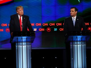 Republikeinse presidentskandidaten debatteren in Miami
