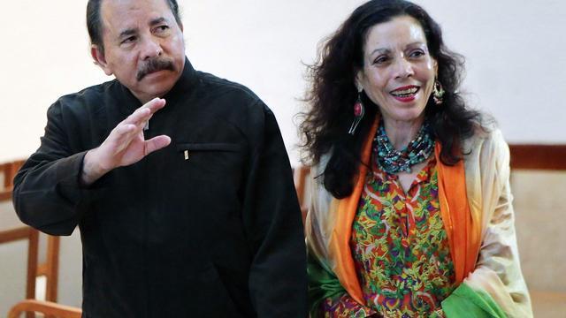 President Nicaragua kiest zijn vrouw als kandidaat vice-president