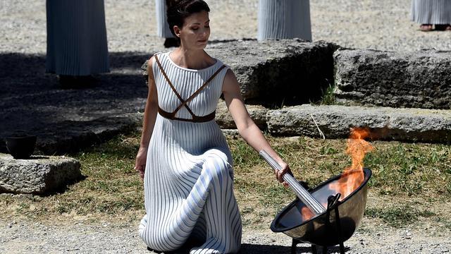 Olympische vlam voor Rio de Janeiro ontstoken