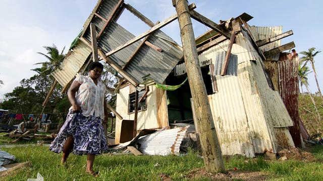 Tienduizenden bewoners Fiji-eilanden dakloos na cycloon