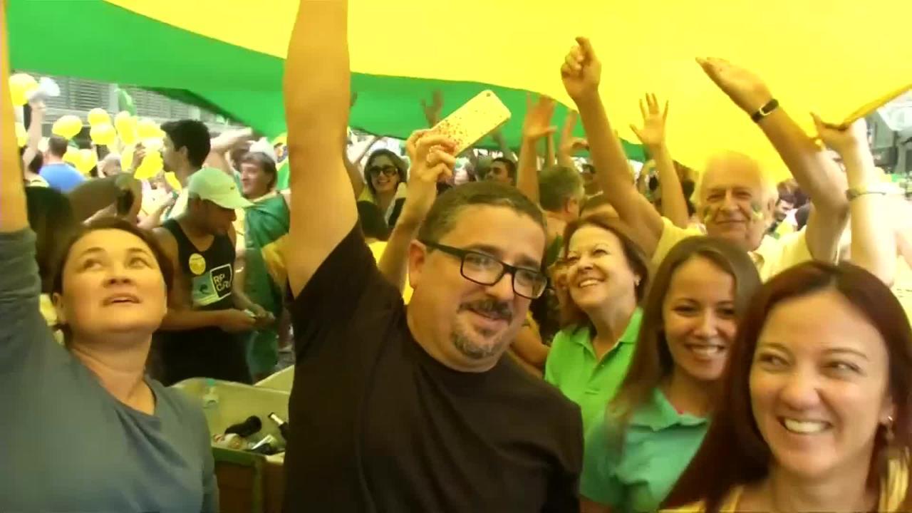 Brazilianen de straat op tegen corruptie