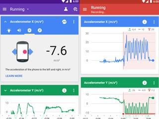 App meet geluid, licht en snelheid