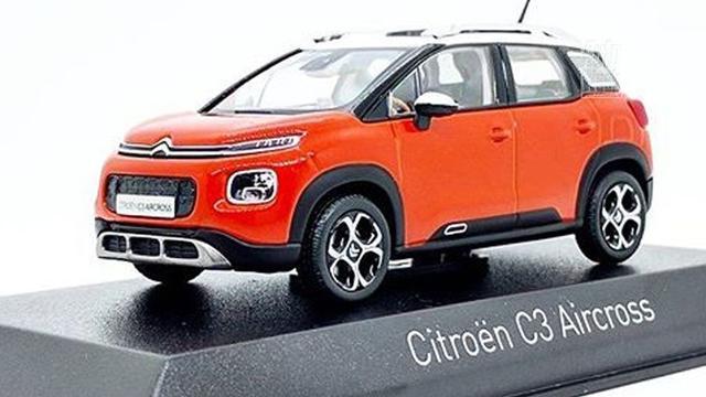 Citroën C3 Aircross gezien als miniatuurauto