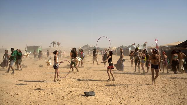 'Bezoekers festival Burning Man richten schade aan bij VIP-kamp'