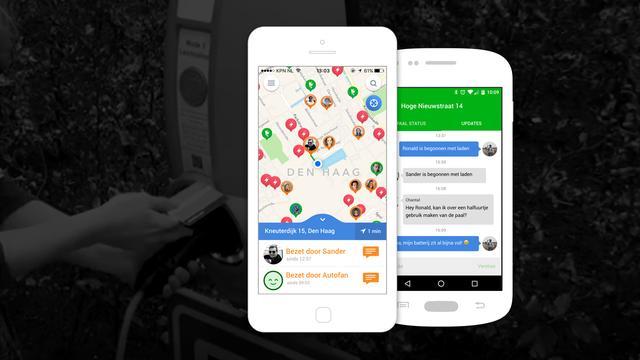 Nieuwe app brengt auto-oplaadpunten in kaart
