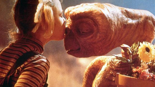 Originele filmposter E.T. geveild