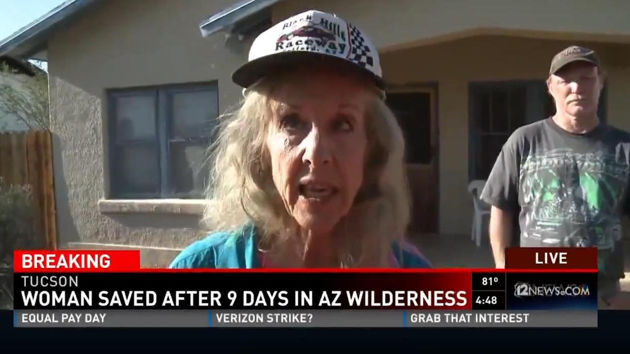 72-jarige vrouw uit bos VS gered door 'help' met stokken te schrijven