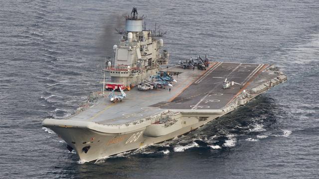 Russisch vliegdekschip voor het eerst ingezet bij offensief in Syrië