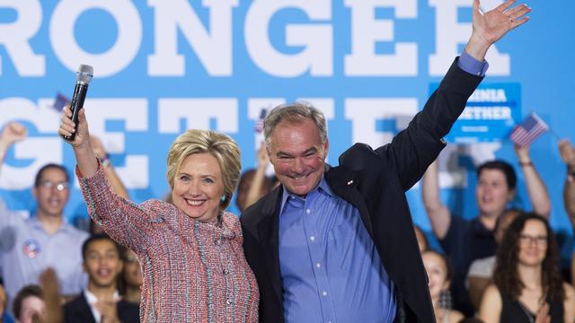 Democraten stemmen in met Kaine als vicepresidentskandidaat VS