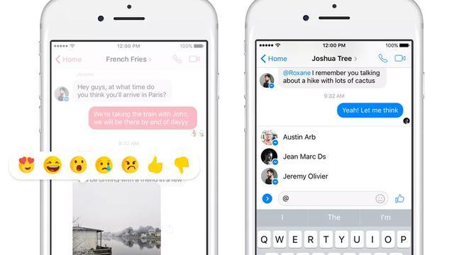 Facebook Messenger laat gebruikers direct reageren op berichten