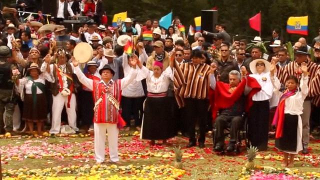 Nieuwe president van Ecuador traditioneel gezegend