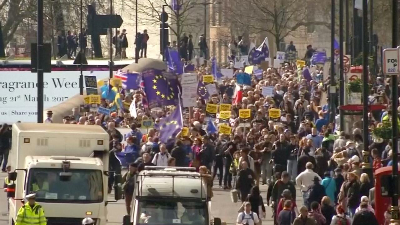 Grote anti-Brexit demonstratie in Londen