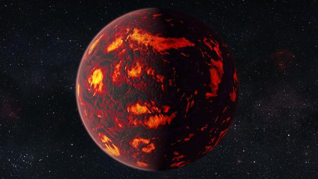 'Superaarde' heeft gesmolten halfrond