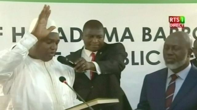 Gambiaanse president Barrow ingezworen in Senegal, interventie Gambia begonnen