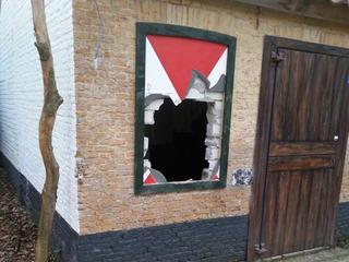 Zelfs bewakingscamera's van gebouwtje zijn gestolen