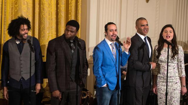 Obama ontvangt acteurs musicalhit Hamilton op Witte Huis